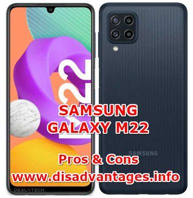 disadvantages samsung galaxy m22