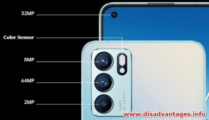 disadvantages oppo reno6 5g camera